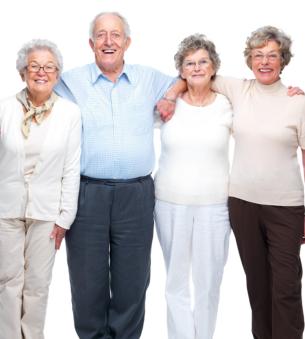 group of elderly people
